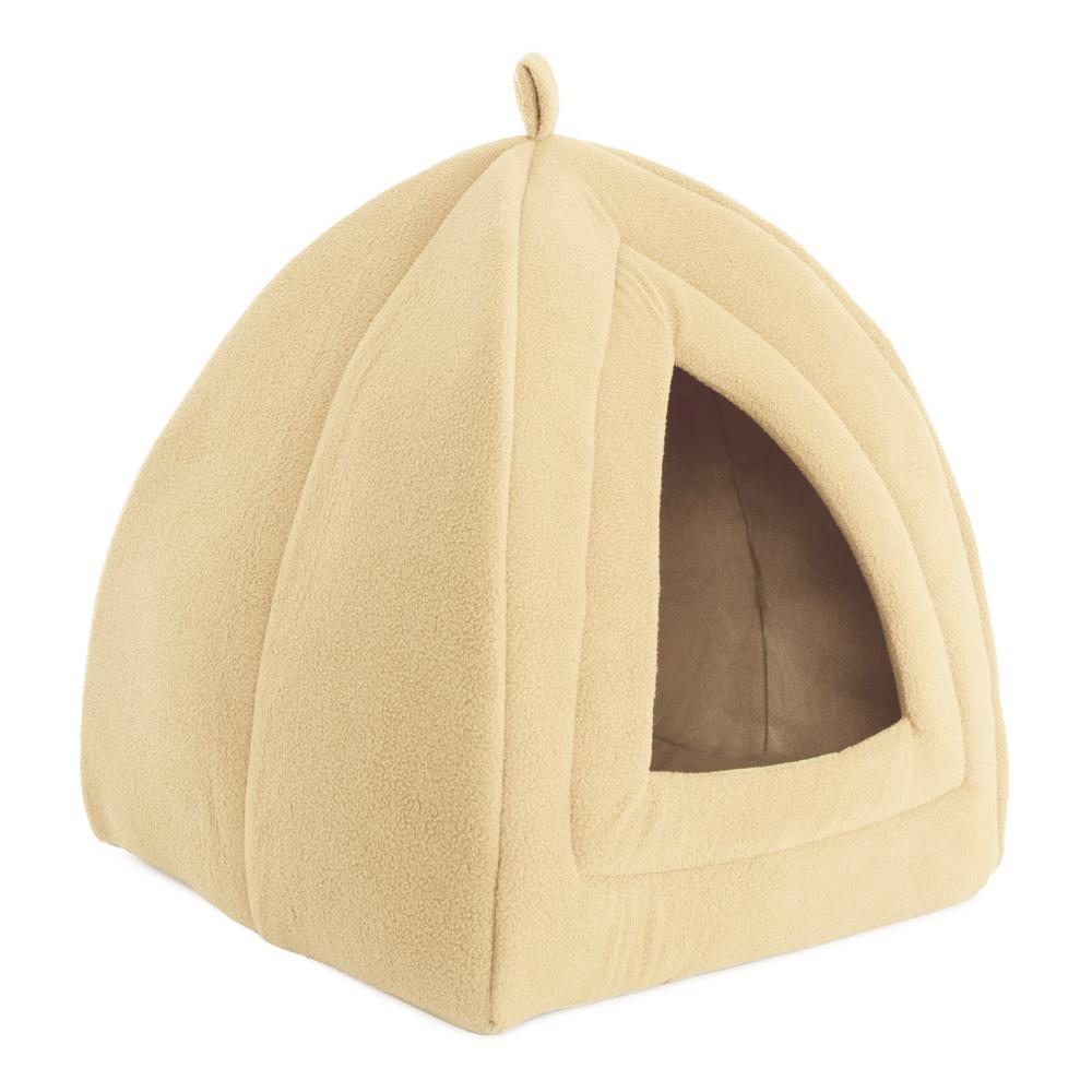 """K/&H PET PRODUCTS 3895 Tan KITTY DOME BED UNHEATED SMALL TAN 16/"""" X 16/"""" X 12/"""""""