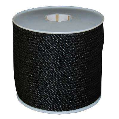 3/8 in. x 600 ft. Black Twisted Polyrpo Rope