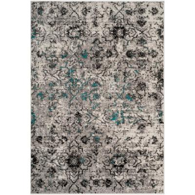 Adirondack Gray/Black 8 ft. x 10 ft. Area Rug