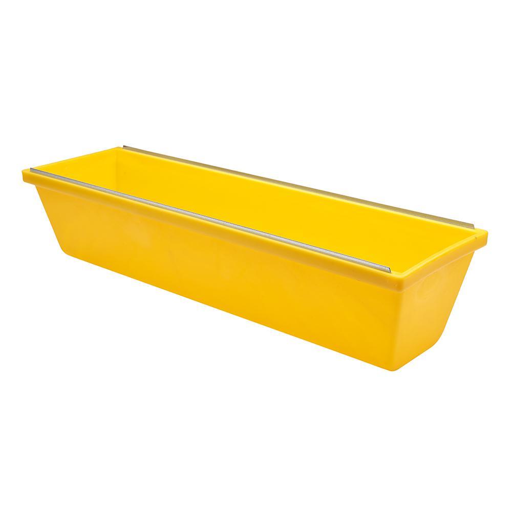 14 in. Heavy Duty Textured Yellow Plastic Mud Pan