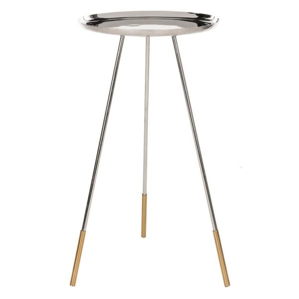 Safavieh Calix Nickle/Gold Side Table FOX4527A