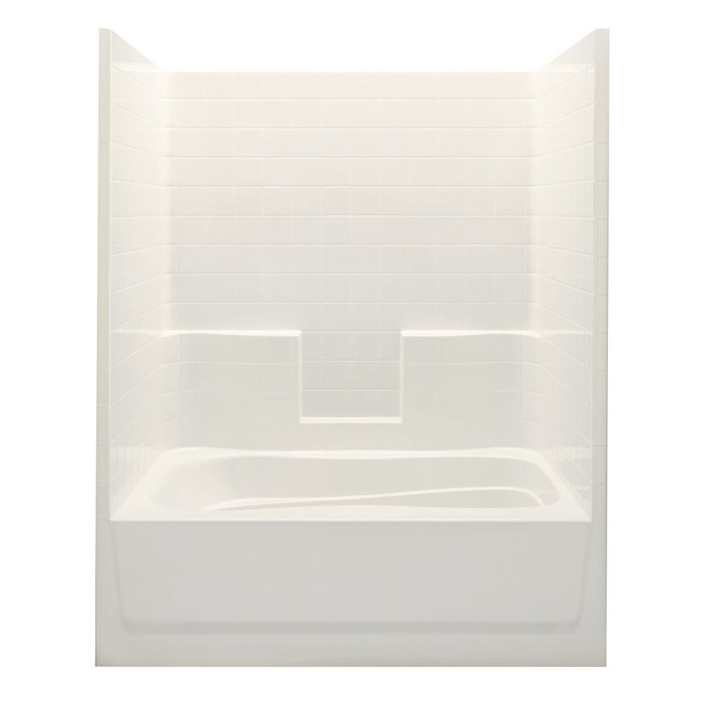 Aquatic Everyday Smooth Tile 60 in. x 36 in. x 76 in. 1-P...