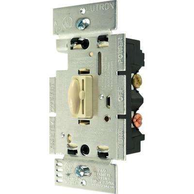 Qoto 600-Watt 3-Way Slide Dimmer and Switch - Ivory