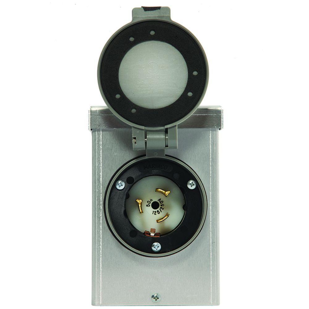 50-Amp Aluminum Power Inlet Box