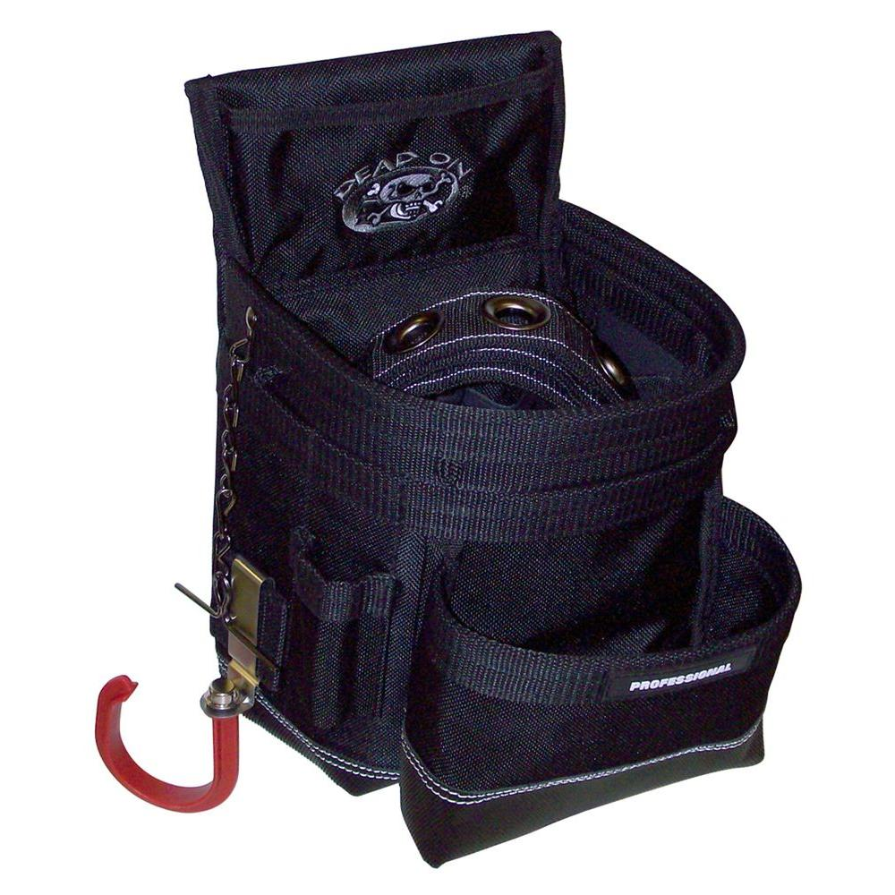 Dead On Tools Nail Bag - 25 Pockets with Meathook Drill Holder