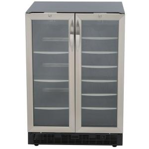 Click here to buy Danby Silhouette 27-Bottle Built-In Wine Cooler and 60-Can Beverage Center by Danby.