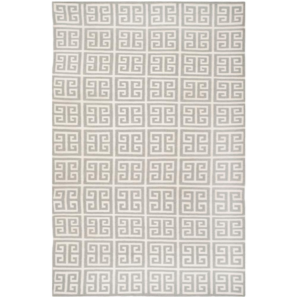 Dhurries Gray/Ivory 6 ft. x 9 ft. Area Rug