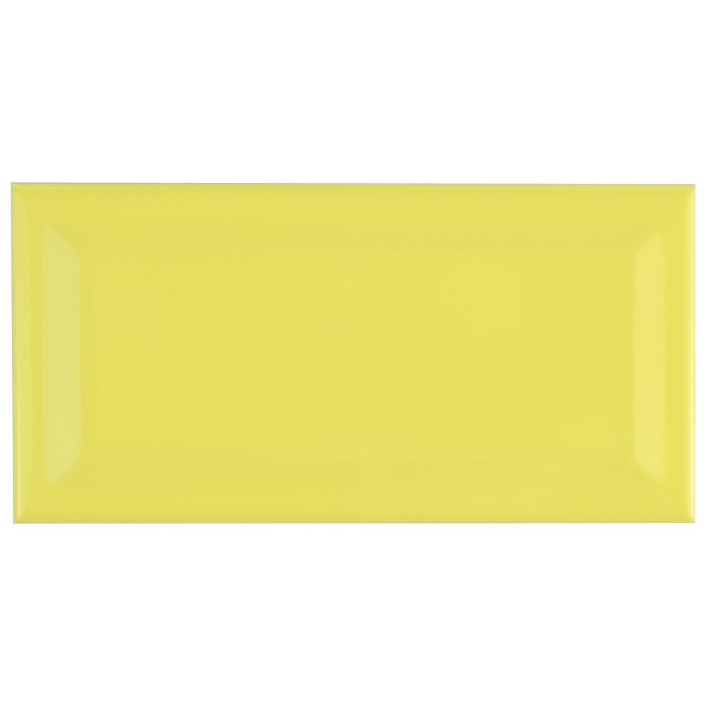 Park Slope Beveled Subway Canary Yellow 3 in. x 6 in.