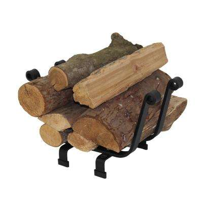 Handcrafted Premier  Indoor/Outdoor Basket Firewood Rack Black