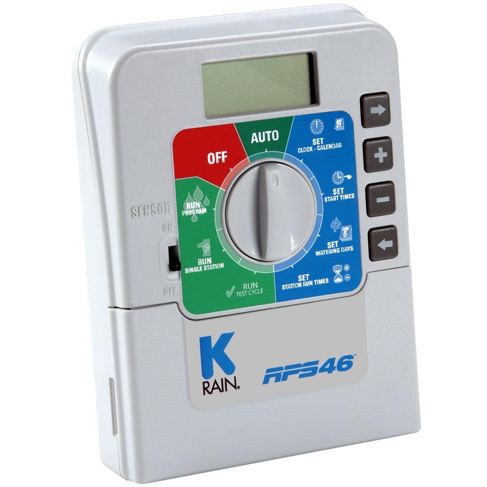 K-Rain RPS46 6 Station Indoor Sprinkler Timer