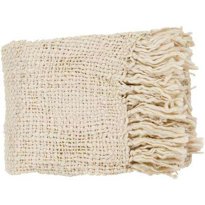 Pepita Ivory Acrylic Throw