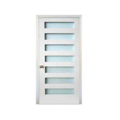 Merveilleux 32 In. X 80 In. 7 Lite Satin Etch Primed Right Handed