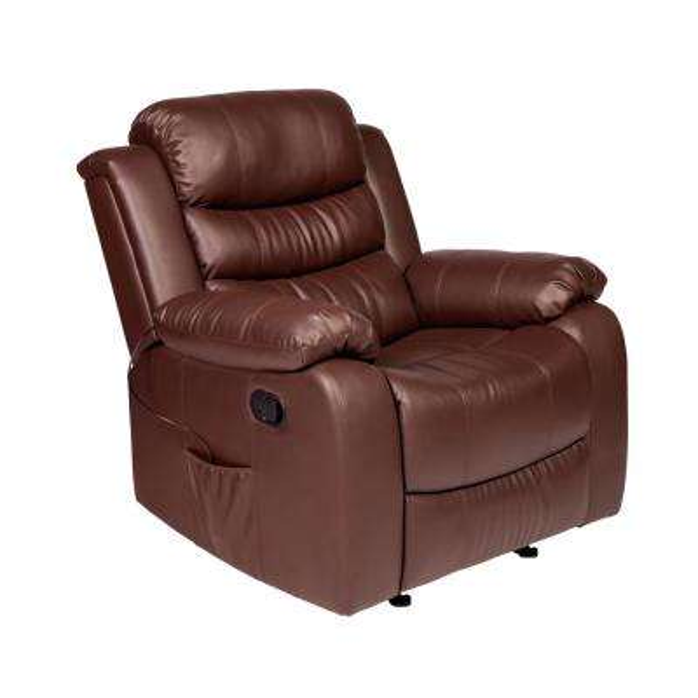 Oscar Brown PU Leather Massage Rocker Recliner
