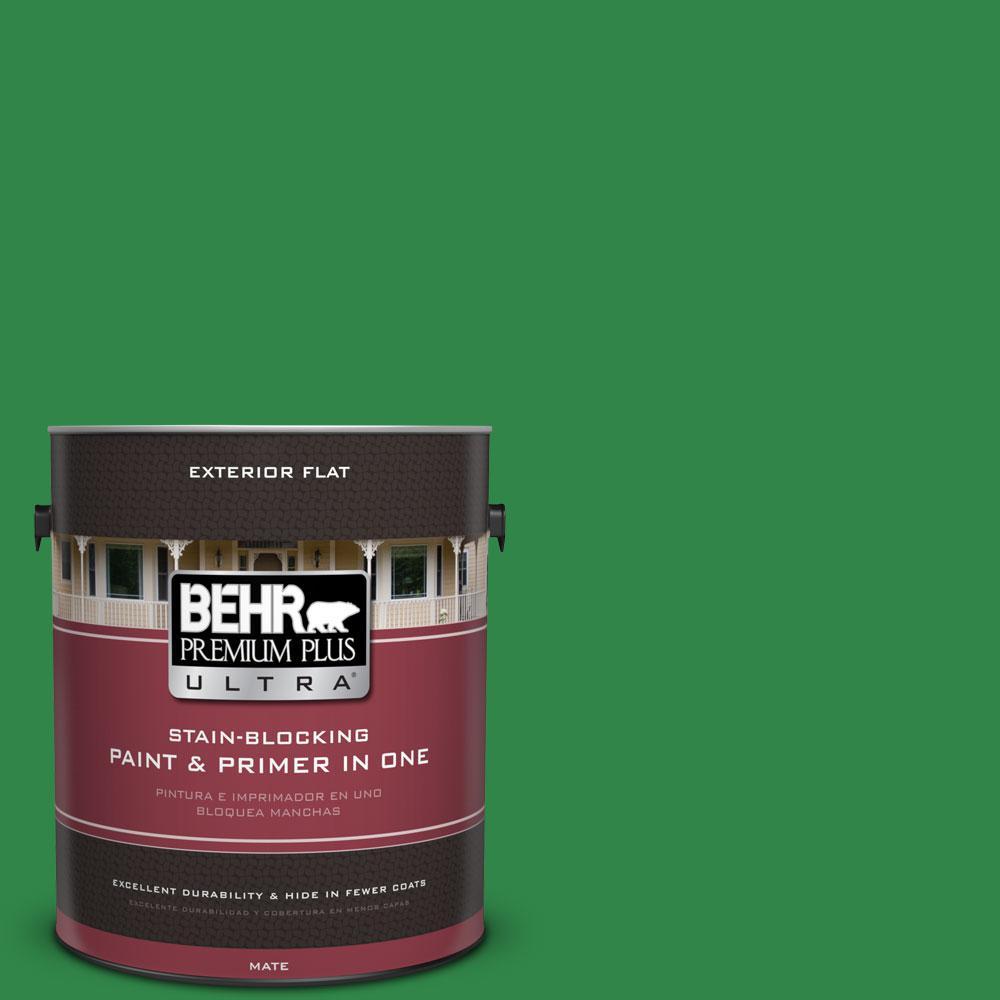 1-gal. #450B-7 Green Grass Flat Exterior Paint