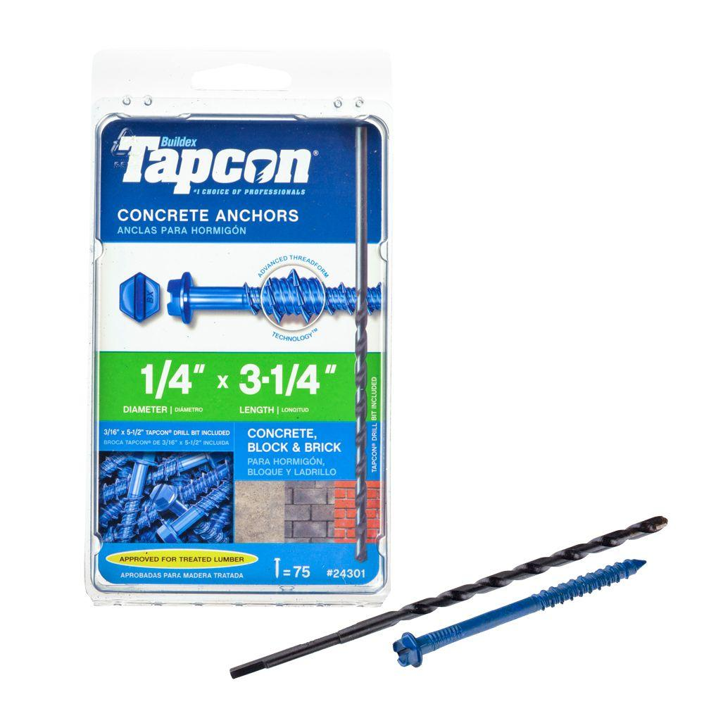 "3//16/"" x 1-3//4/"" Phillips Flat ITW Tapcon Screws100//box"