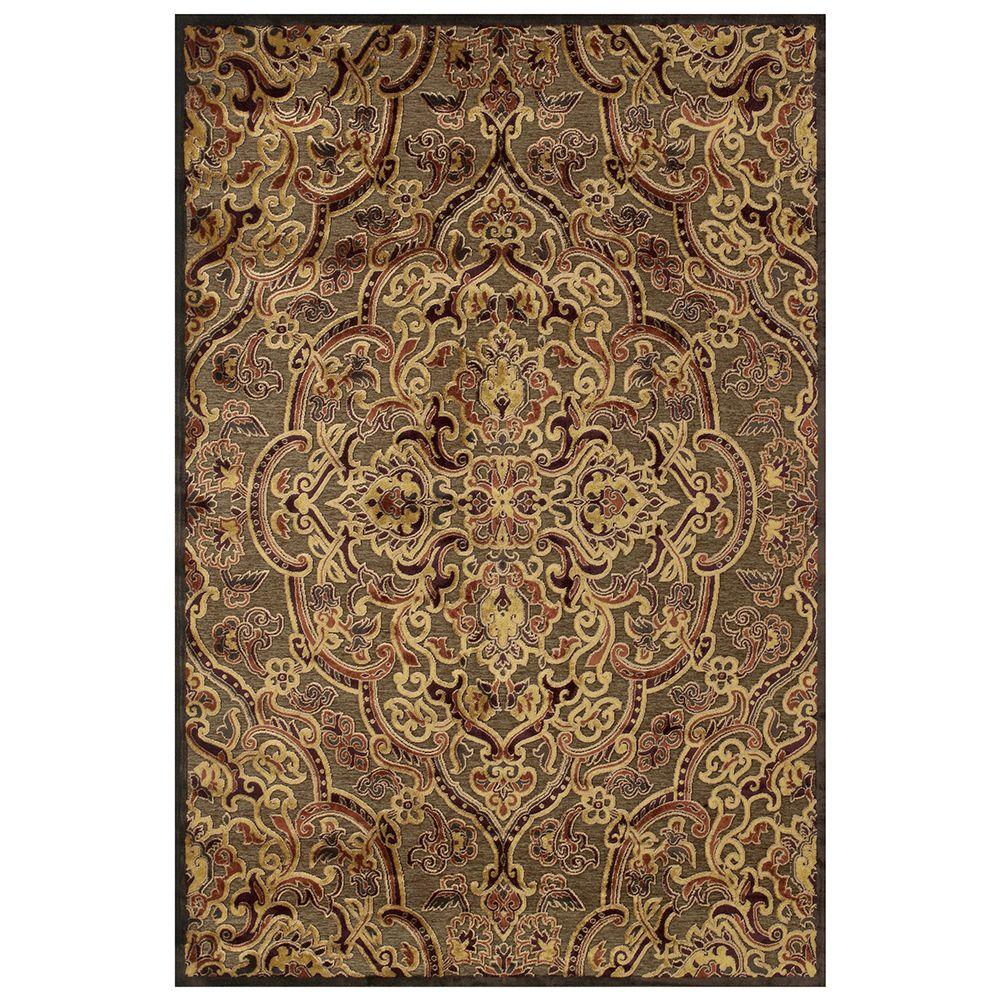 Feizy Saphir Azar Coffee/Rust 2 ft. 2 in. x 4 ft. Indoor Accent Rug