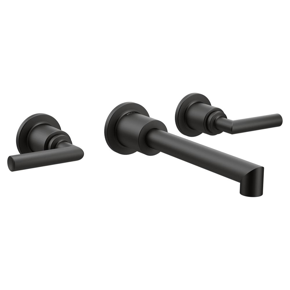 Arris Wall Mount 2-Handle Bathroom Faucet Trim Kit in Matte Black