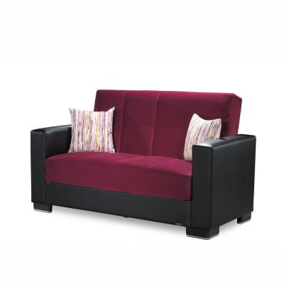 Burgundy - Sofas & Loveseats - Living Room Furniture - The ...