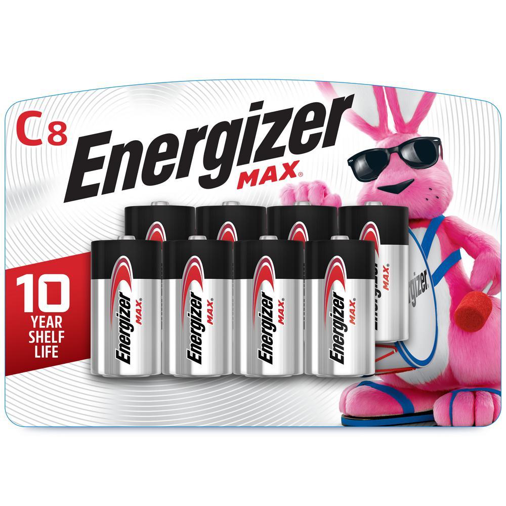Max C Alkaline Battery (8-Pack)