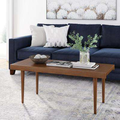 Clyde Rustic Brown Bench-Style Coffee Table