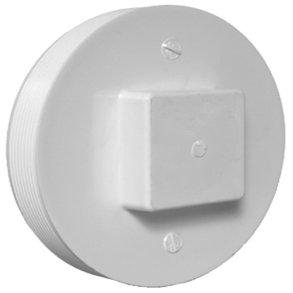 Charlotte Pipe 8 In Pvc Dwv Cleanout Plug Pvc 00106 1600