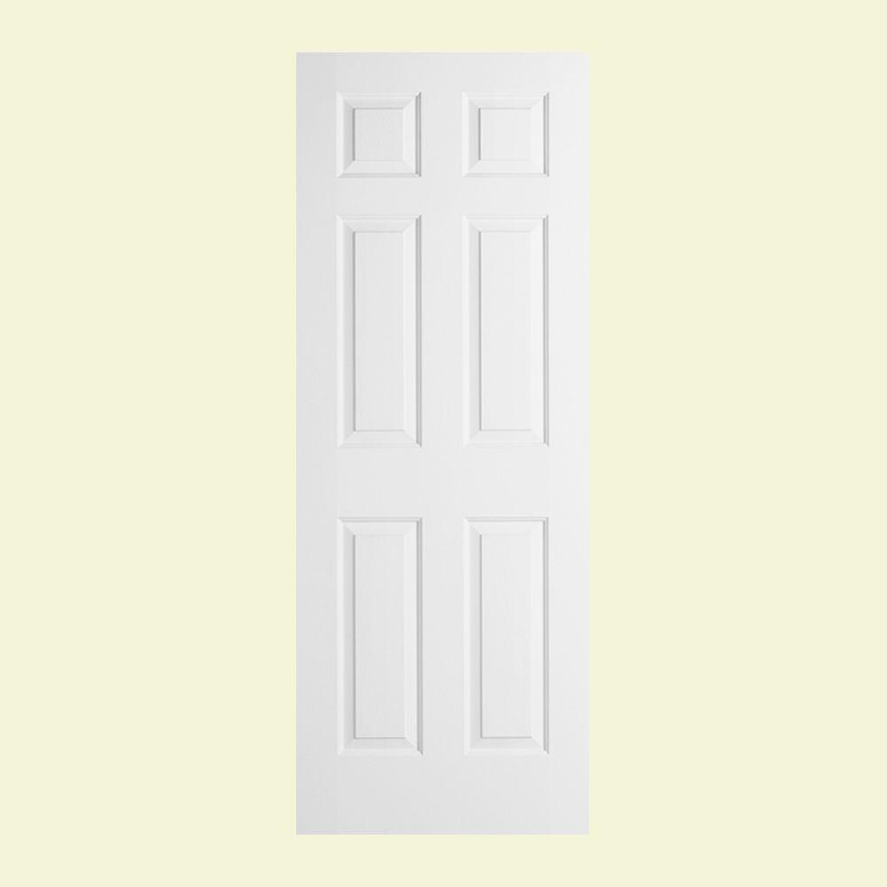 Attractive JELD WEN 30 In. X 78 In. Colonist Primed Textured Solid Core Molded