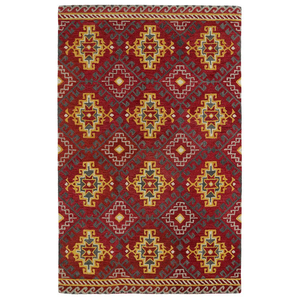 Global Inspiration Red 8 ft. x 10 ft. Area Rug