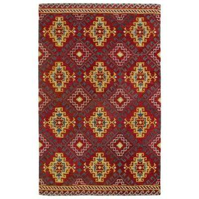 Global Inspiration Red 9 ft. x 12 ft. Area Rug