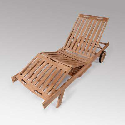 Heaton Wood Outdoor Adjustable Chaise Lounge
