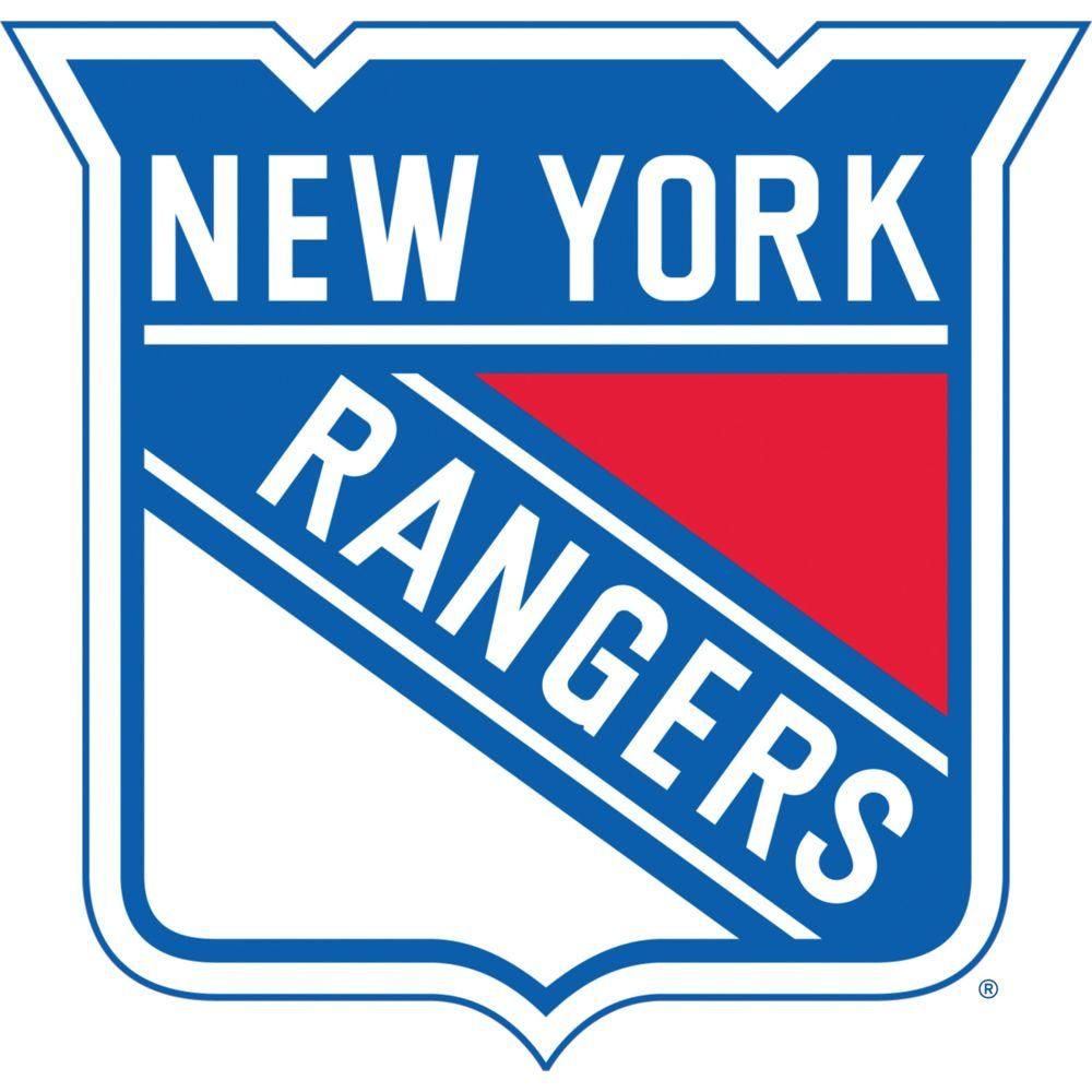 Fathead 35 in. x 37 in. NY Rangers Logo Wall Decal