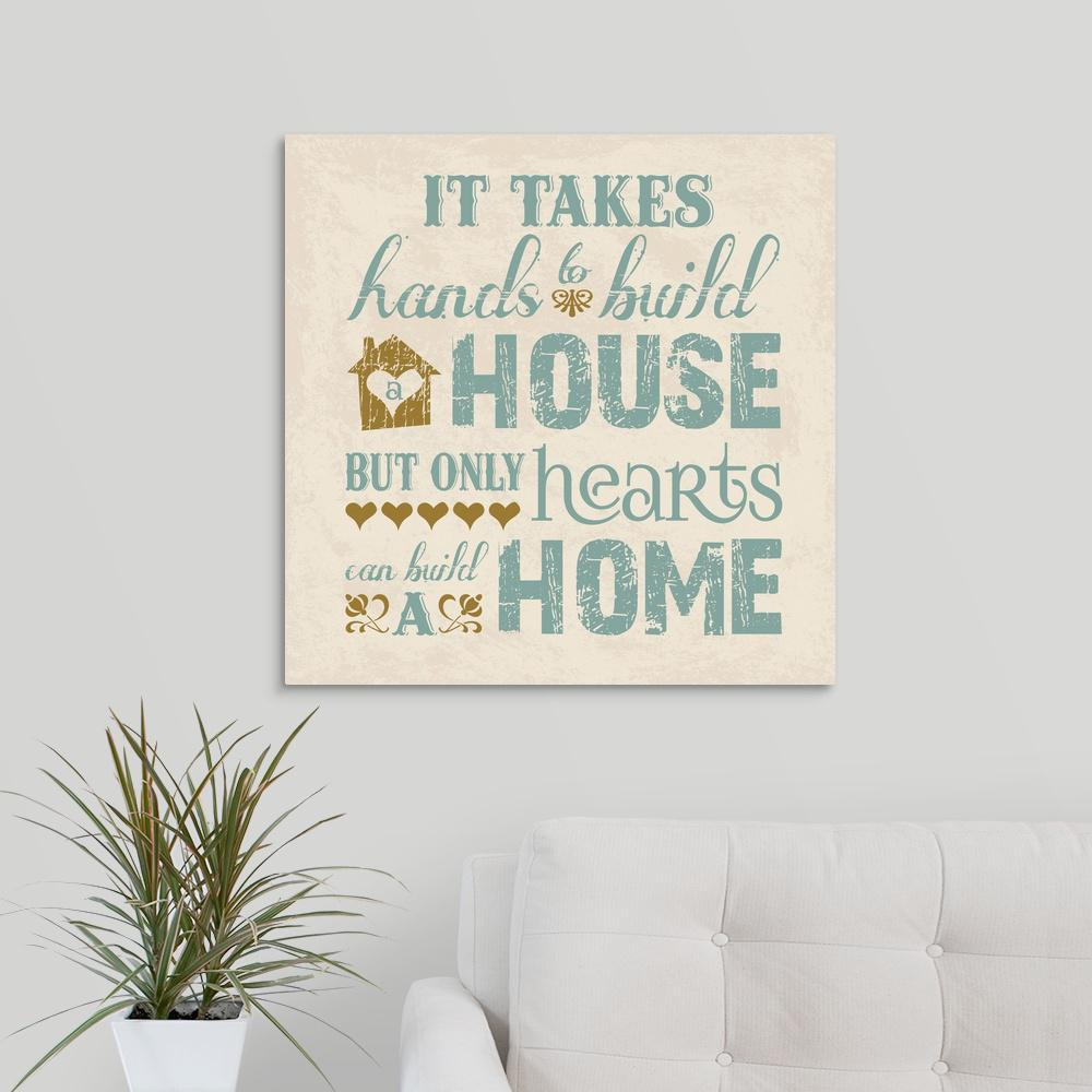 """Home II"" by Melody Hogan Canvas Wall Art"