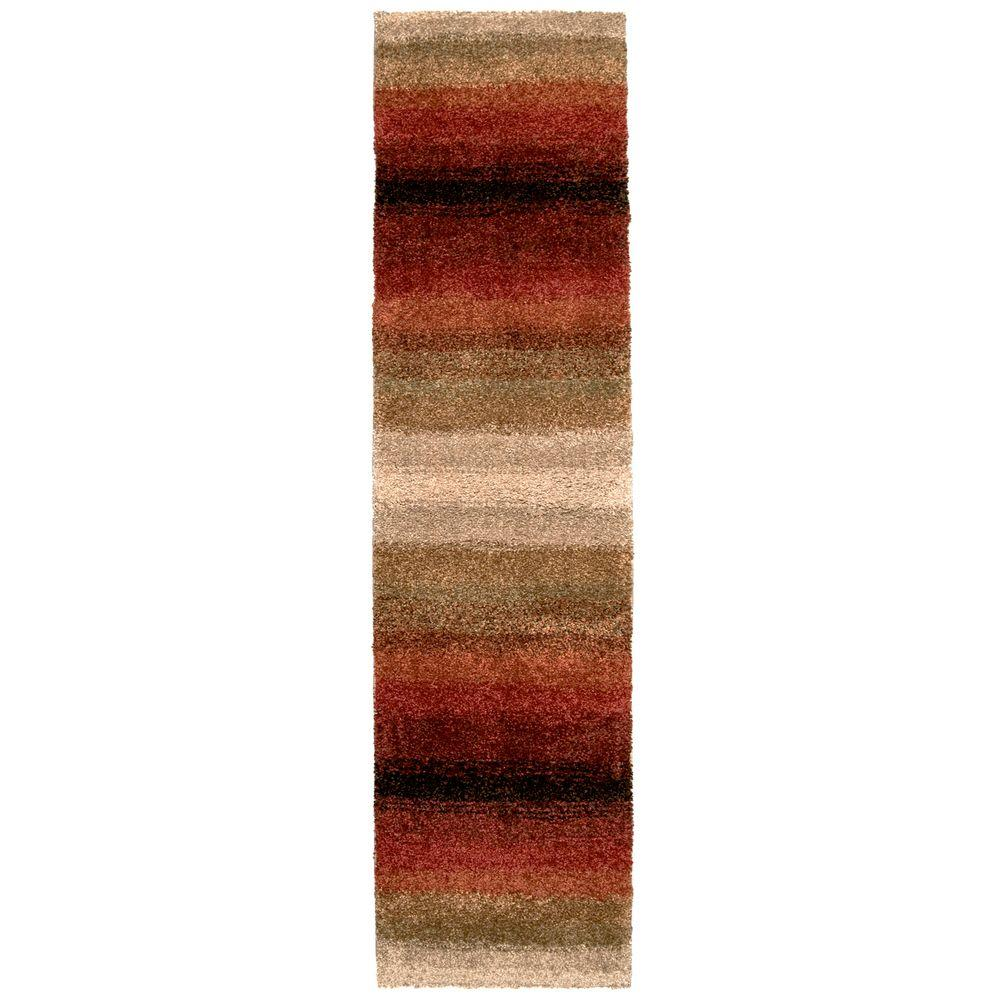 Orian Rugs Layers Lava 1 ft. 11 in. x 7 ft. 5 in. Runner