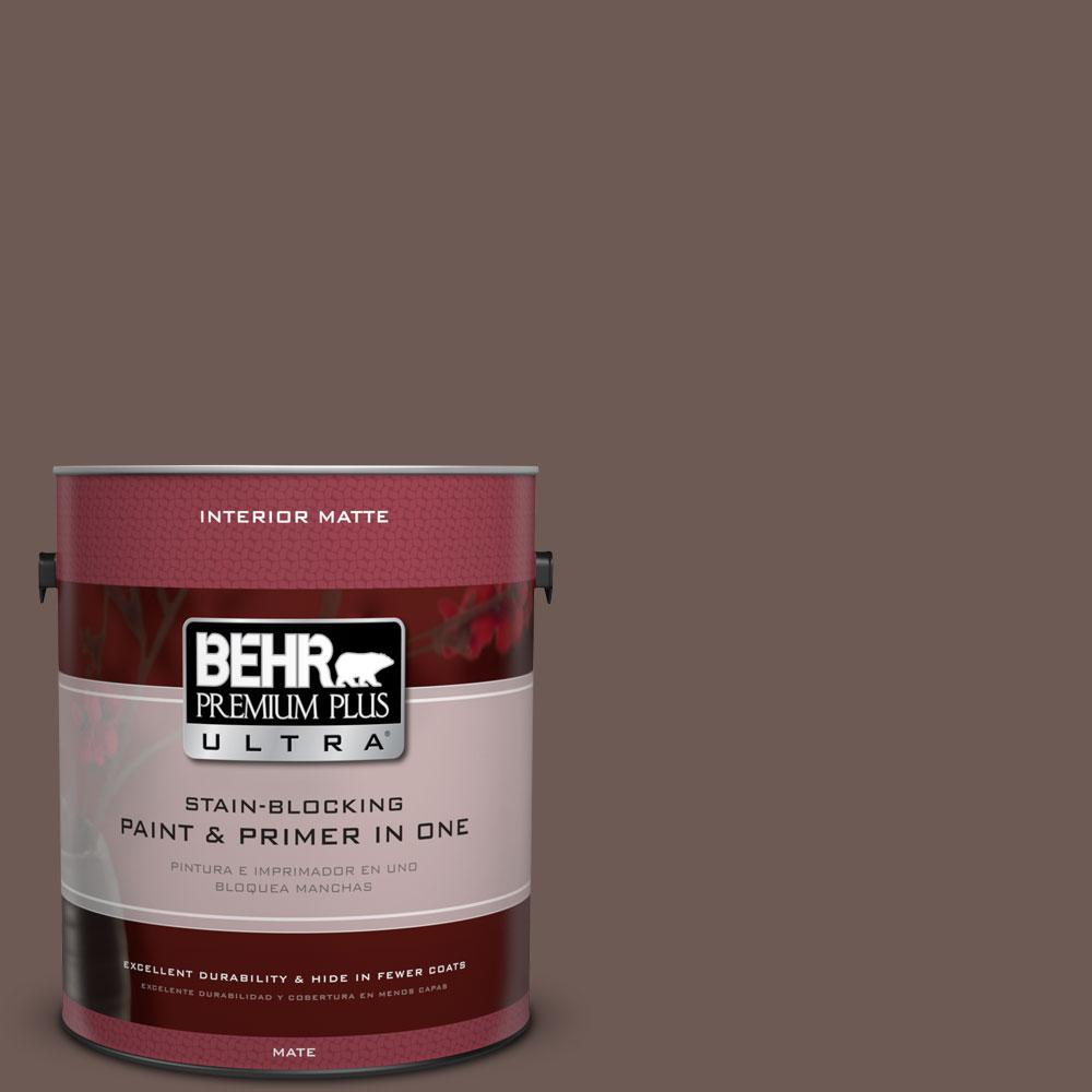 1 gal. #750B-6 Tree Bark Flat/Matte Interior Paint