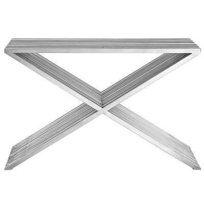 Silver Press Console Table