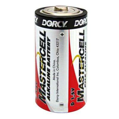 Master Cell Long-Lasting D-Cell Alkaline Manganese Battery (8-Pack)