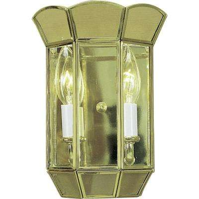 2-Light Polished Brass Interior Wall Sconce