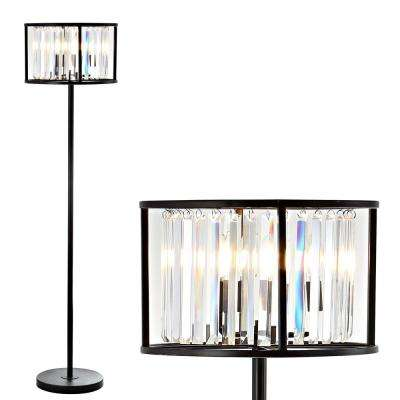 Bevin 63 in. Oil Rubbed Bronze/Crystal Metal/Crystal LED Floor Lamp