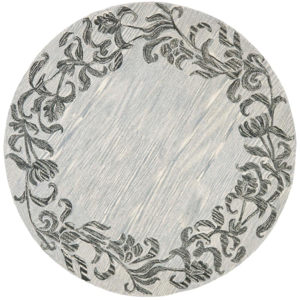 Soho Silver/Gray 6 ft. x 6 ft. Round Area Rug