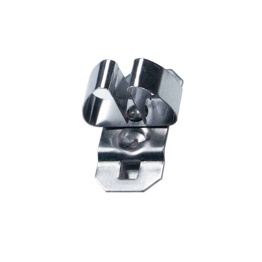 Standard Spring Clip Hold Range 1/2 in. - 3/4 in. Stainless Steel LocBoard Hooks (3-Pack)