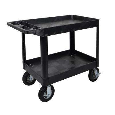 XLC 24 W x 45 L - 2-Shelf Heavy Duty Utility Cart 8 in.  Fully Pneumatic Casters