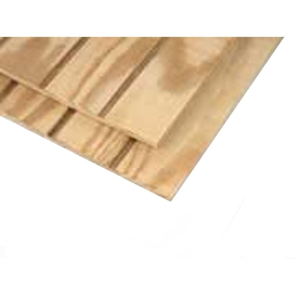 Plywood Siding Panel T1-11 8 IN OC (Common: 19/32 in. x