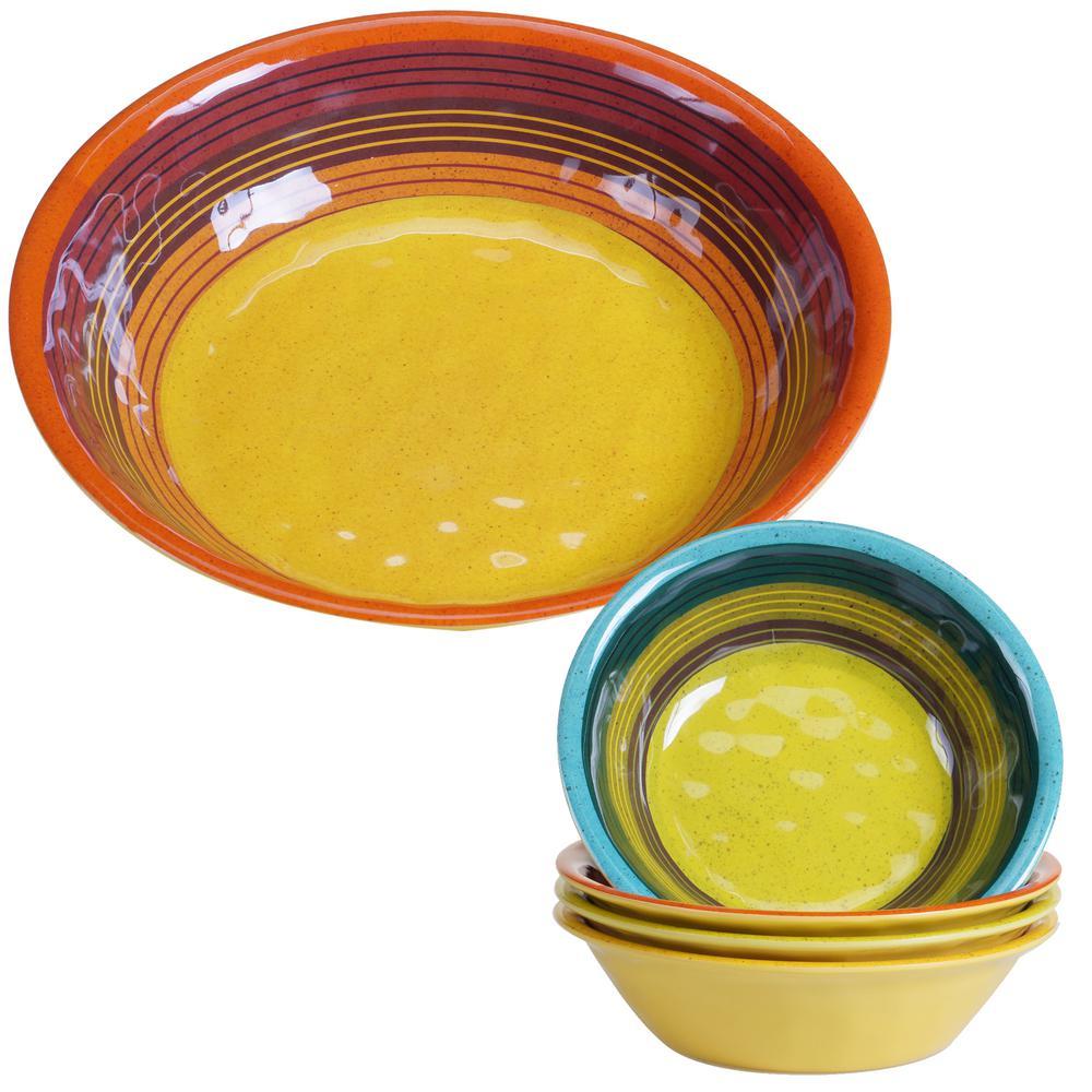 Sedona 5-Piece Assorted Salad and Serving Set