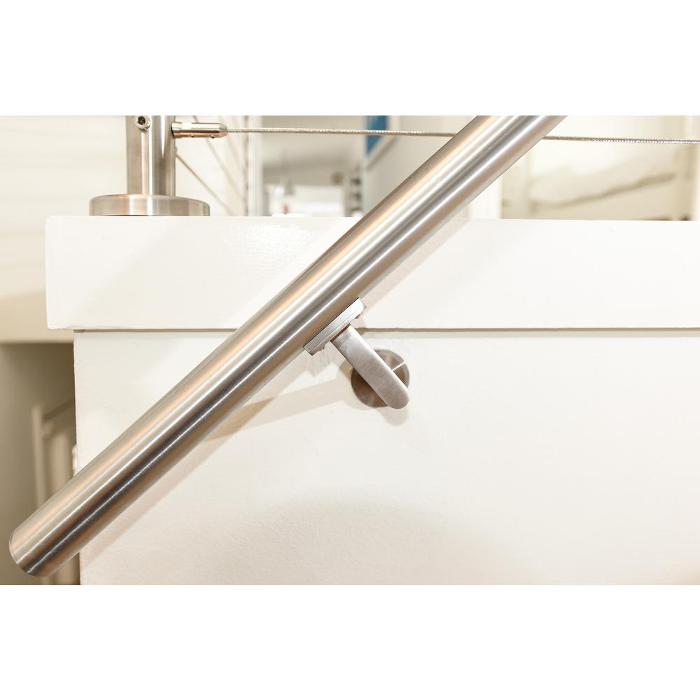 3 Pack 3 Inch Handrail Brackets for Staircases Satin Nickel