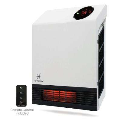 Deluxe Wall Unit 1,000-Watt Infrared Quartz Portable Heater with Built-In Thermostat and Over Heat Sensor
