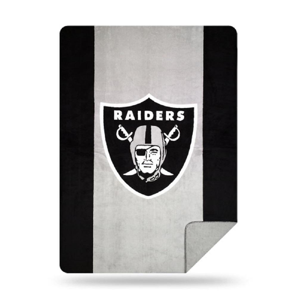 Raiders Multi Color Acrylic Sliver Knit Throw