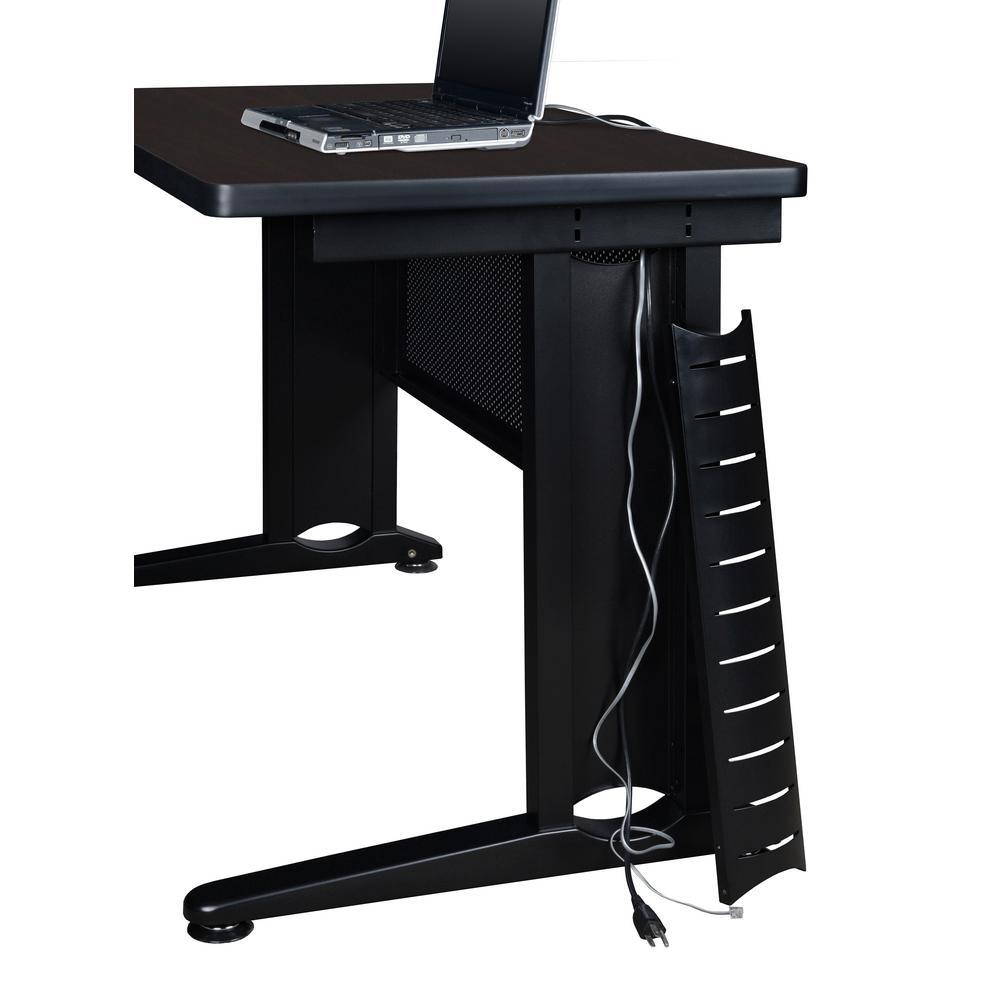 Fusion 66 in. W x 24 in. D Mocha Walnut Single Pedestal Desk