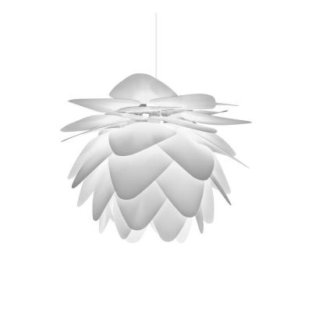 Pineapple Leaf 1-Light White Pendant
