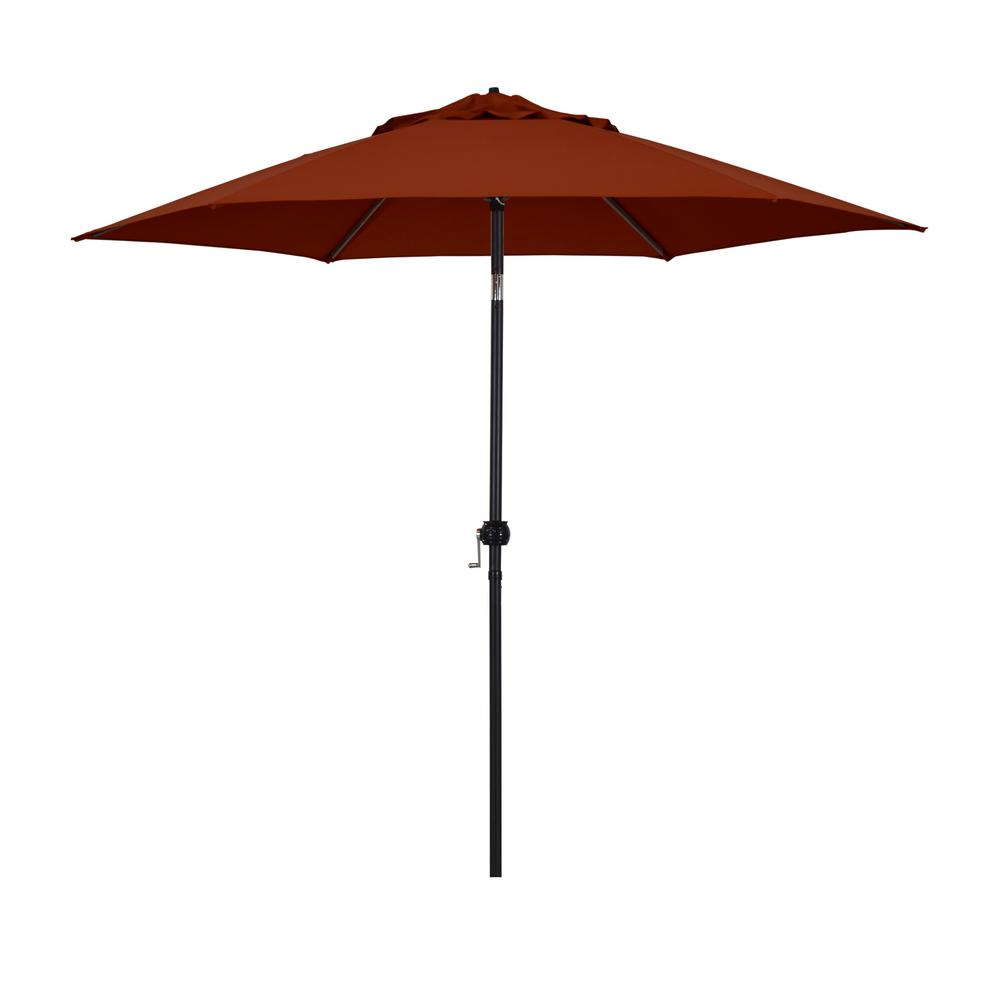 Astella 9 ft. Steel Market Push Tilt Patio Umbrella in Polyester Brick