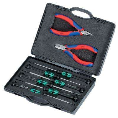 8-Piece Electronics Tool Set ESD in Plastic Case with Molded Foam