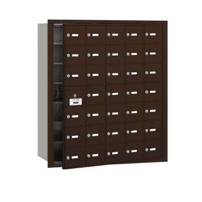 Bronze USPS Access Front Loading 4B Plus Horizontal Mailbox with 35A Doors (34 Usable)
